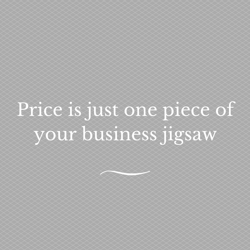 Price is just one piece of your business